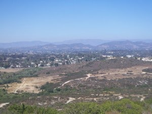 Views from Mount Calavera in the Calavera Hills area of Carlsbad CA