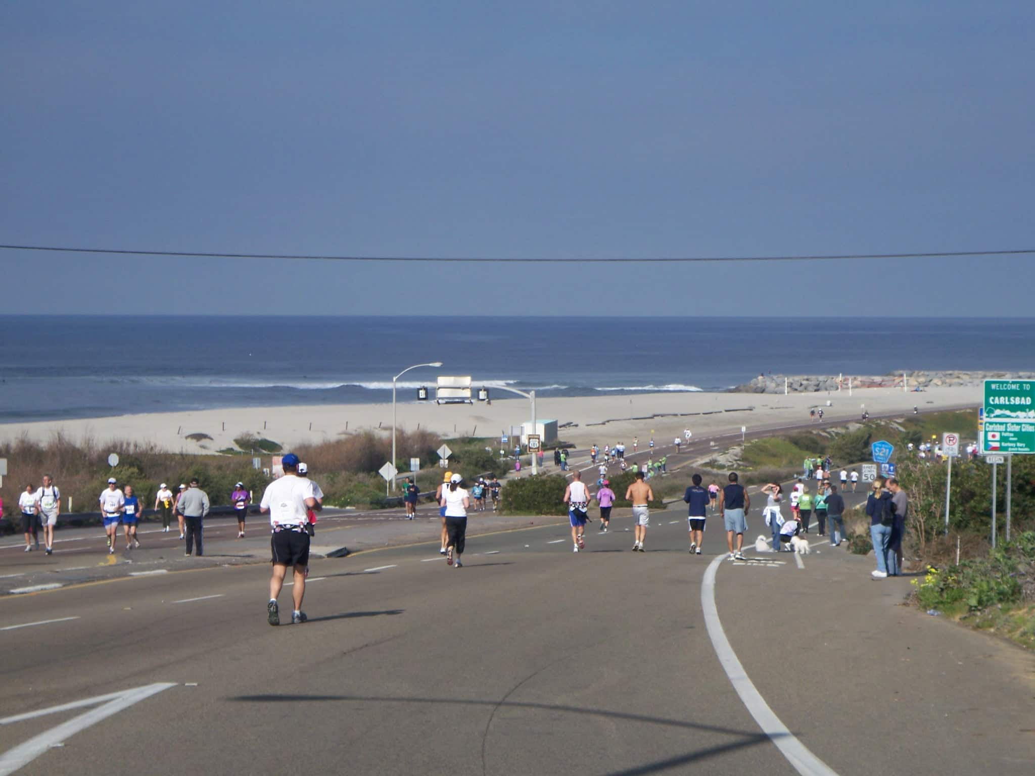 Runners in Carlsbad