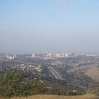 View of 5 freeway in La Jolla from Mt. Soledad