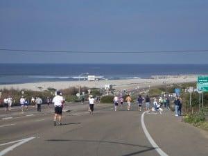 Carlsbad Marathon along the Coast Road in Carlsbad CA