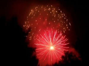 Fireworks in La Costa, Carlsbad CA