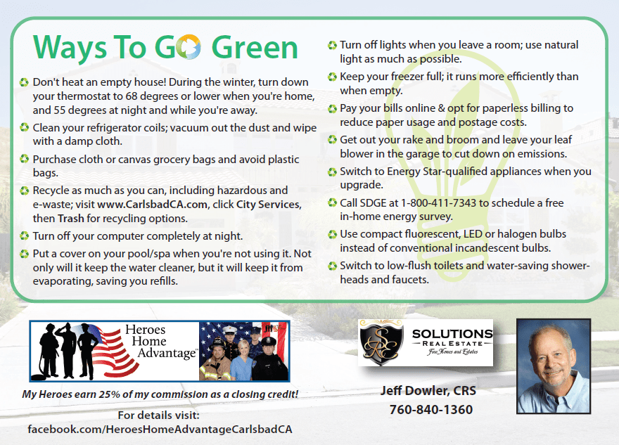 Easy Ways To Go Green In Carlsbad Ca At Home In Carlsbad