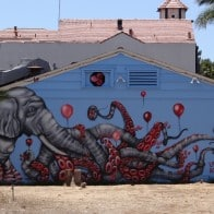 Carlsbad art wall mural July 2015 Annie Peece