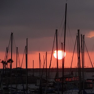 Oceanside Marina at sunset