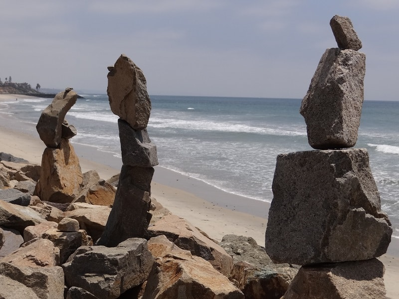 3 stone sculptures in Carlsbad
