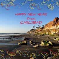 Happy New Year from carlsbad