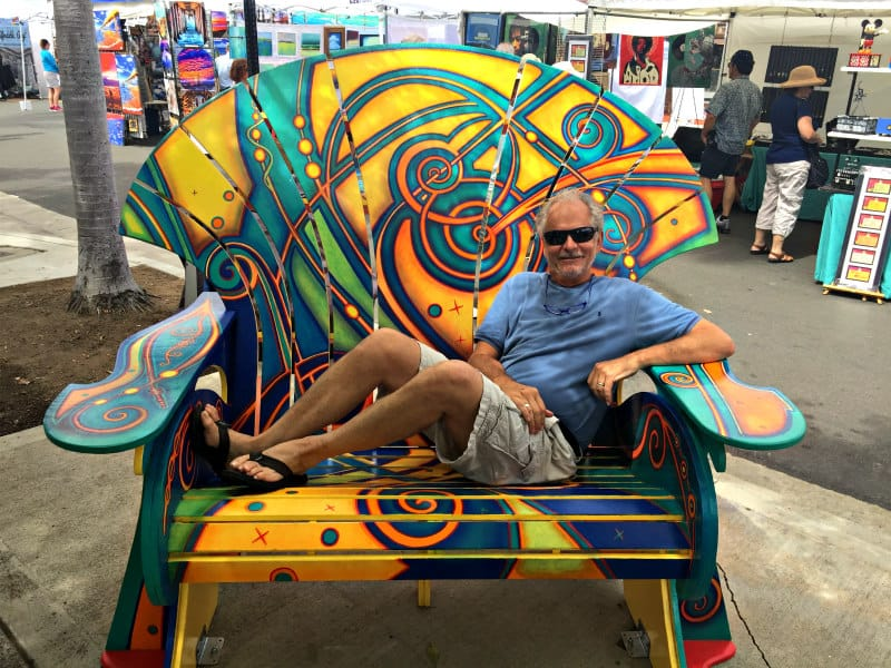 Jeff in the Art Beach Chair August 11, 2019