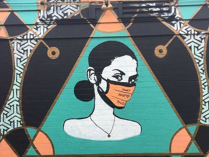 Carlsbad Art Wall with Face Mask