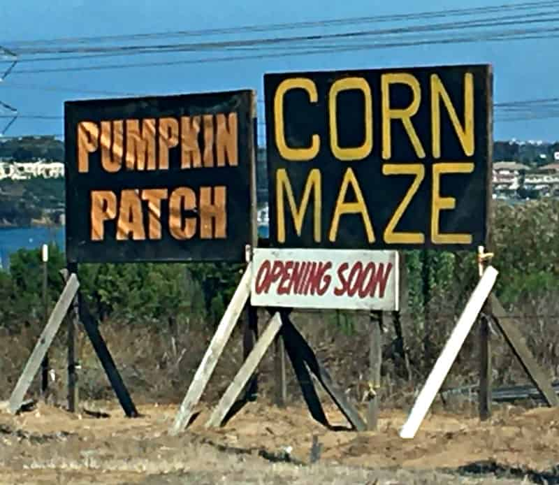 2020 Pumpkin Patch sign in Carlsbad