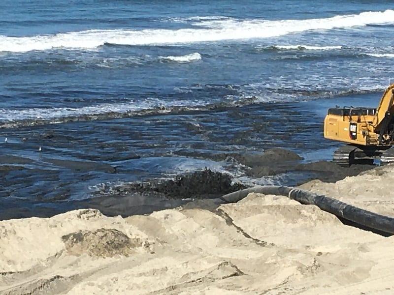 Sand replenishment in Carlsbad CA