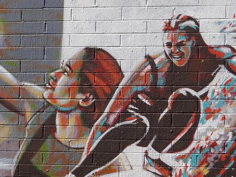 MArch 2021 Carlsbad Art Wall close-up